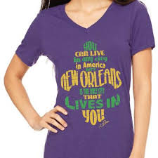 mardi gras shirts new orleans new orleans lives in you mardi gras women s cling creative