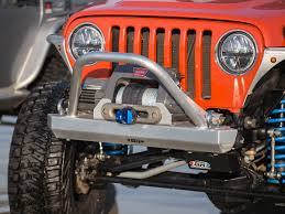 jeep winch bumper t lj winch guard front bumper aluminum genright jeep parts