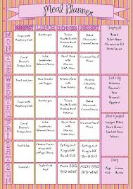 family meal planner organiser with shopping list organization