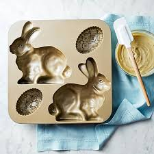 easter bunny cake mold nordic ware bunny cake pan with egg williams sonoma recipes