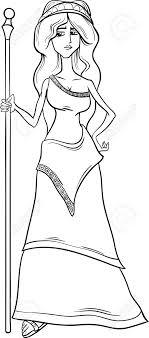 imagenes de zeus para dibujar faciles historieta blanco y negro ilustración de mitológico griego de la