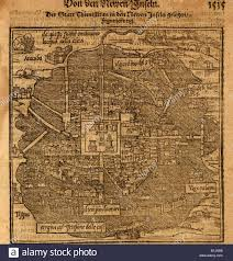 Map Of Mexico City by Aztec Capital Tenochtitlan Now Mexico City From A 1597 Map By