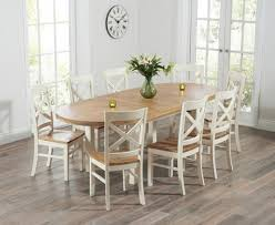Oak Furniture Dining Tables Buy The Chelsea Oak U0026 Cream Extending Dining Table With Cavendish