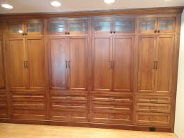 Built In Dining Room Cabinets Classy Handmade Oak Built In Wardrobe Closet Unstained With 8 Door