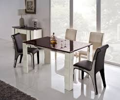 modern style dining room with creative rectangle shaped stainless