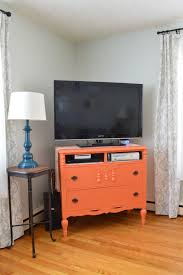 How To Build Wood Tv Stands Furniture Makeover From Dresser To Tv Stand U2013 Plaster U0026 Disaster