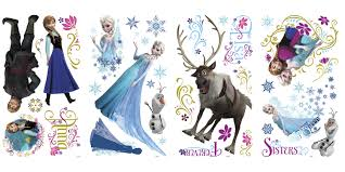 rmk scs frozen wall stickers with glitter disney frozen wall stickers
