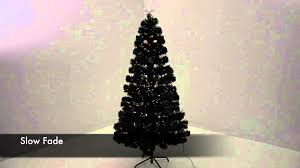 black fibre optic christmas tree with led stars xs1653 youtube