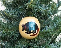 southwestern hand painted gourd christmas ornament american
