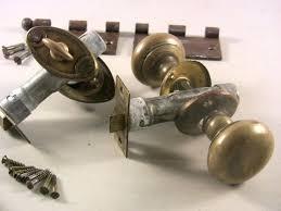 Exterior Door Lockset Door Locks Vintage Brass Exterior Door Knobs Lock Set Door