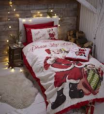 Duvet Protector King Size Catherine Lansfield Santa Father Christmas Duvet Quilt Cover Xmas