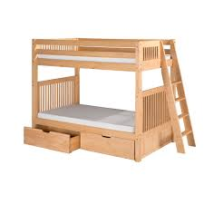 Loft Bed With Trundle Twin Over Full Bunk Bed White And Twin Over - Trundle bunk bed with desk