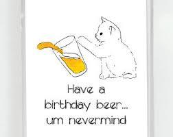 kitty birthday card etsy