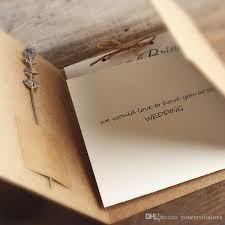 wedding invitations kraft paper classic kraft paper brown color pocket card bi fold diy party
