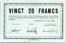 chambre commerce mulhouse banknote 20 francs mulhouse chambre de commerce série c