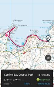 Walking Map App Cemlyn Bay Family Friendly Walk Potty Adventures