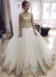 sequined wedding dress glitter gold sequined lace gown wedding dress 2584879 weddbook