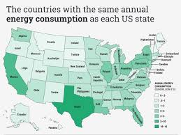 Where I Ve Been Map Map Of Us State Energy Use As A Foreign Country Business Insider