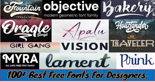 100 best free fonts for designers web other tele trick mania