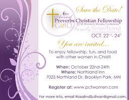 Christian Invitation Card Event Women U0027s Conference Celebrating U201cgod Family And Sisterhood