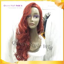 Halloween Costume Jessica Rabbit Jessica Rabbit Natural Cosplay Wig Copper Red Hair Long Wavy