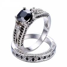 black sapphires rings images 10kt white gold exquisite black sapphire crystal ring set jpg
