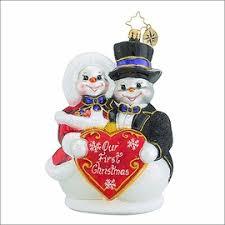 christopher radko bridal ornaments