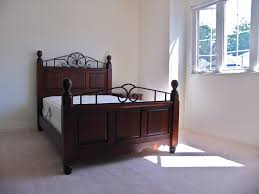 solid wood u0026 wrought iron bed canadian wood design