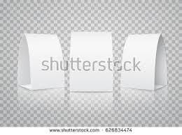 blank table tent set isolated on stock vector 626834474 shutterstock