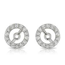 diamond earring jackets diamond earring jackets 14k ben bridge jeweler