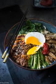 recette cuisine japonaise traditionnelle bibimbap coréen sucre de palme algue nori et haricot mungo