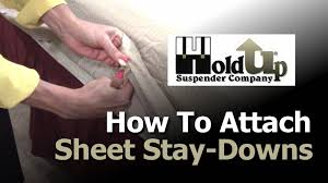how to attach sheet straps bed sheet holders and sheet stay downs