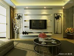 Tv Wall Decor by Modern Living Room Tv Background Wall Decoration Effect And