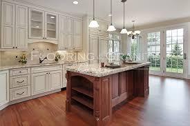 Kitchen Hardwood Floors by Granite Flooring And Granite Designs