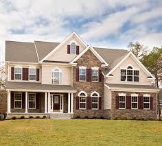 gorgeous maroon shutters that match the front door mount laurel