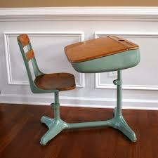 Kid School Desk Home School Is Cool Vintage Turquoise Aqua Elementary School