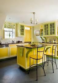 cuisine jaune et verte idees couleurs deco cuisine