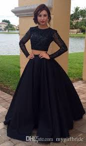 prom dresses for 12 year olds 2017 two pieces prom dress black sleeves beaded prom