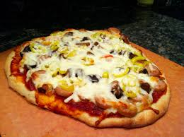 pizza night at the smitties mushroom sausage banana pepper