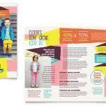 brochure template for kids kids club brochure template design