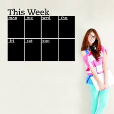 online get cheap office wall calendar aliexpress com alibaba group this week and month chalkboard calendar vinyl wall sticker removable wall decal for home office classroom
