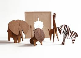 moderne wooden animal sculptures from uusi velvet cushion