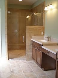 bathroom shower designs no door shower glass wall shower no