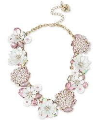 multi statement necklace images Betsey johnson gold tone multi stone flower statement necklace jpg