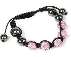 crystal pink bracelet images Swarovski crystal disco ball friendship bracelet pink with black jpg