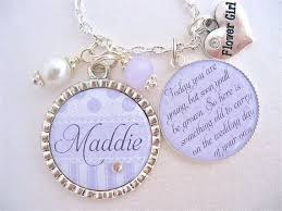 personalized children s jewelry flower girl necklace children s jewelry personalized wedding