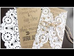 diy rustic wedding invitations how to make a diy rustic doily wedding invitation