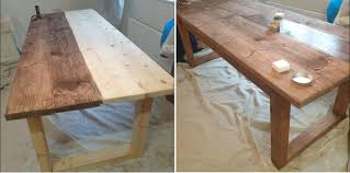 how to stain pine table pine wood stain