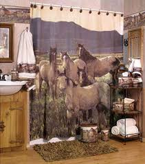 Western Bathroom Shower Curtains Clearance Mustangs Bathroom Accessories Cabin Place
