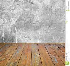 room interior grey cement wall with wooden floor stock photo